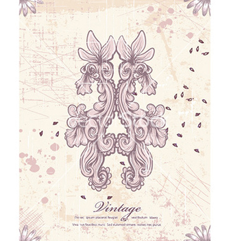 Free floral with grunge vector - Free vector #224223