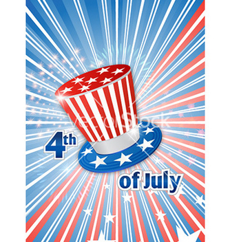 Free 4th of july background vector - Free vector #224943