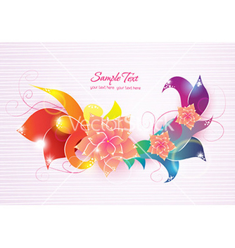 Free colorful abstract floral vector - Free vector #224963