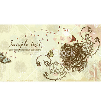 Free vintage floral background vector - Free vector #225083