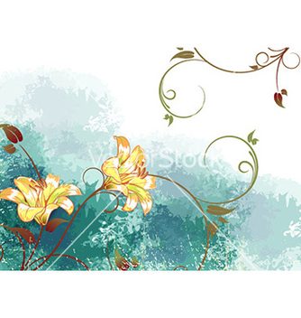 Free watercolor floral background vector - Free vector #225133