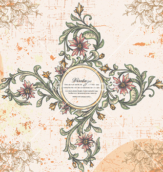 Free vintage frame vector - Free vector #225463