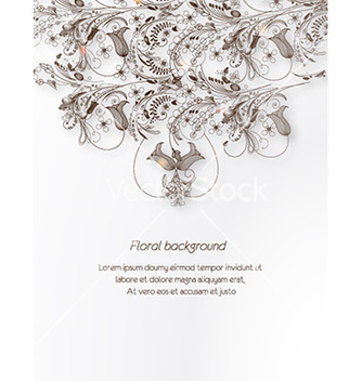 Free floral background vector - Free vector #225693