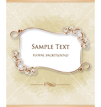 Free floral frame vector - Free vector #226433