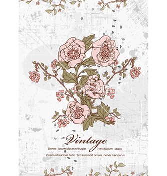Free floral with grunge vector - Free vector #226483