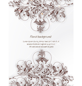 Free floral background vector - Free vector #226683