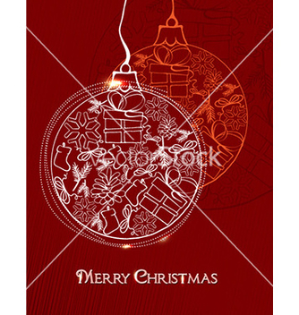 Free christmas with balls vector - vector #226723 gratis