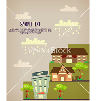 Free city stylized with buildings vector - Kostenloses vector #226863