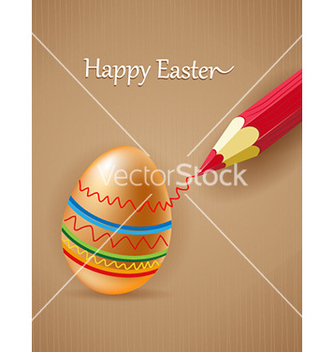 Free egg with pencil vector - Kostenloses vector #226903