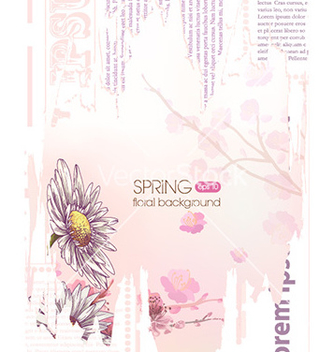 Free floral background vector - Kostenloses vector #227003
