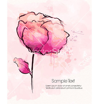 Free watercolor floral background vector - Kostenloses vector #227033