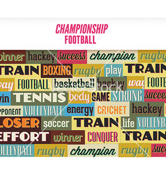 Free with sport typography vector - vector #227133 gratis