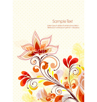 Free colorful floral background vector - Free vector #227243