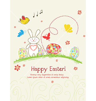 Free eggs with flowers vector - Free vector #228443