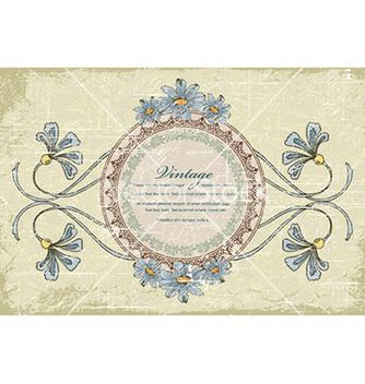 Free vintage floral frame vector - Kostenloses vector #228463