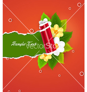 Free torn cardboard with floral vector - Free vector #228613