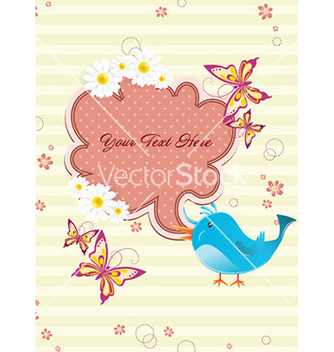 Free bird with speech bubble vector - vector gratuit #228793