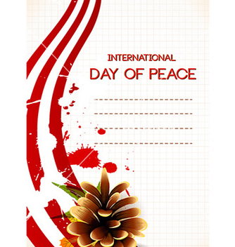 Free international day of peace with pine cone vector - Free vector #228863