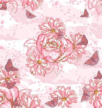 Free seamless floral background vector - Free vector #228943