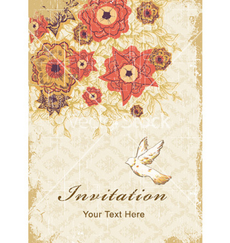 Free vintage floral background vector - Kostenloses vector #229193