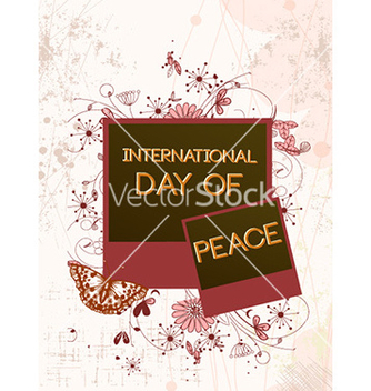 Free international day of peace with photo frame vector - Free vector #229553