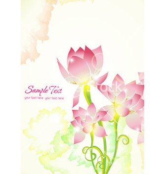 Free colorful abstract floral vector - Free vector #229853