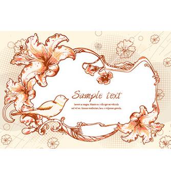 Free vintage floral frame vector - Free vector #229973