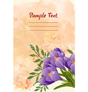 Free watercolor floral background vector - Free vector #230053