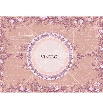 Free grunge floral frame vector - vector #230553 gratis