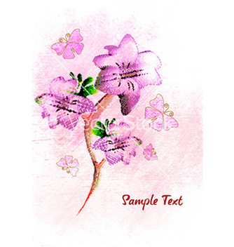 Free butterflies with colorful floral vector - Free vector #231163