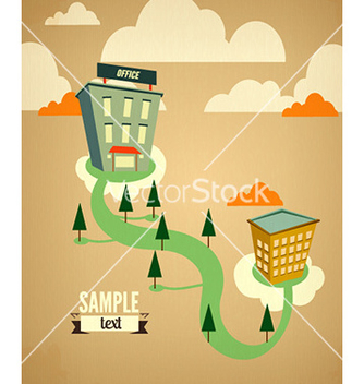Free city stylized with buildings vector - Free vector #231673