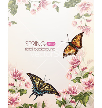 Free floral background vector - Free vector #231893