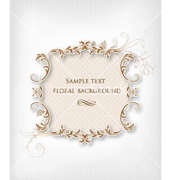 Free floral frame vector - Kostenloses vector #231933