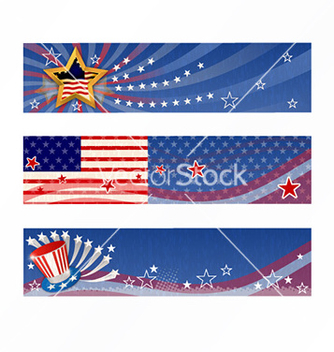 Free 4th of july banners set vector - Kostenloses vector #232033