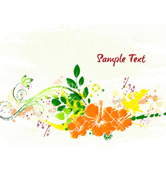 Free watercolor floral background vector - Free vector #232193
