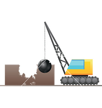 Free wrecking ball vector - vector gratuit #232643