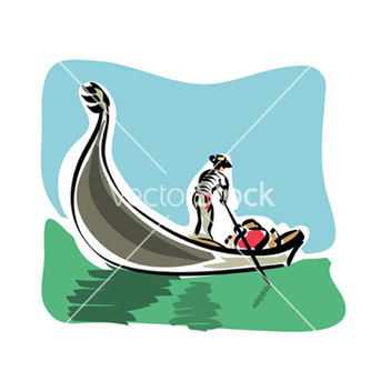 Free venetian gondola vector - Free vector #233123