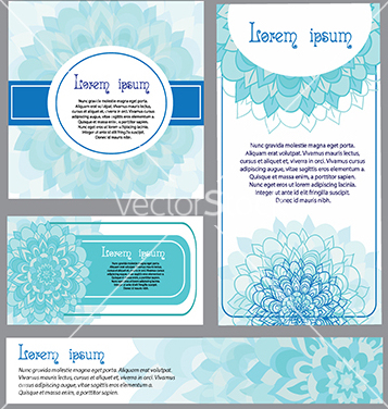 Free set of ornate templates for banners or greeting vector - vector #233243 gratis