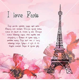 Free card to the eiffel tower vector - vector #233283 gratis