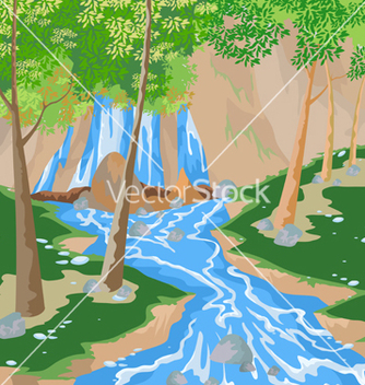 Free waterfall vector - Free vector #233303