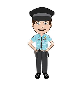 Free policeman vector - vector gratuit #233363