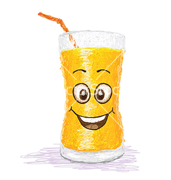 Free happy orange juice vector - Kostenloses vector #233503