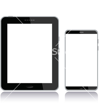 Free tablet pc and smart phone vector - Free vector #233693