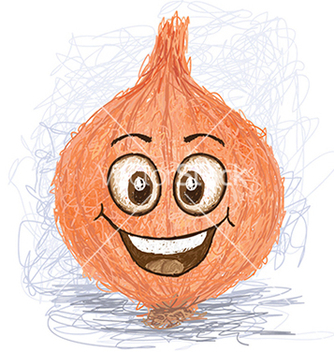 Free happy onion vegetable cartoon character smiling vector - Free vector #233833