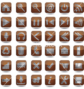 Free web icons set vector - Free vector #233873