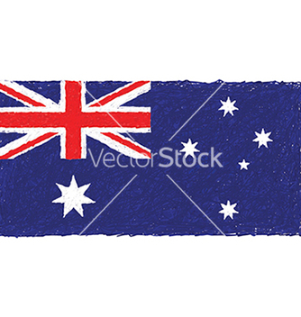Free hand drawn of australian flag in white background vector - Free vector #233883