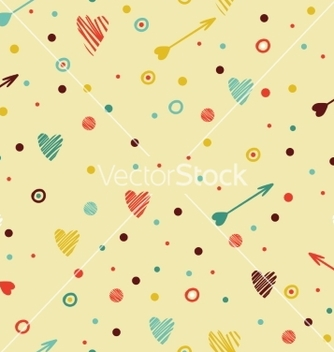 Free festive colorful seamless pattern with heart and vector - Free vector #234063