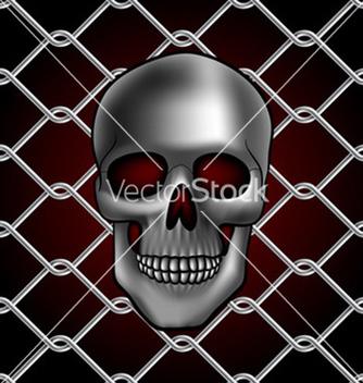 Free skull fence vector - vector gratuit #234153