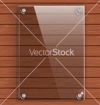 Free glass plate on the background wall of wooden vector - Free vector #234243