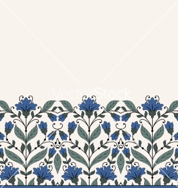 Free invitation card with floral ornament vector - vector #234253 gratis